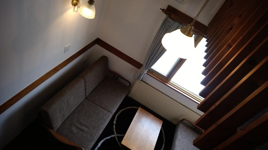 屋根裏風でバストイレ付お部屋