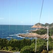 ある日の夕方のレストランからの太平洋の眺望2