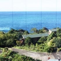 ある日の夕方のレストランからの太平洋の眺望3