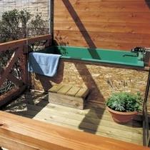 天然温泉を使用【岬の風】客室露天風呂