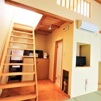 【別館離れ】ロフト階段&バス・トイレ