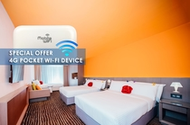 Family Room with 4G Pocket WiFi Device