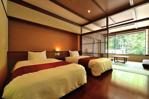 【特別室 山ぼうし】10畳+ベッドルーム+露天風呂【禁煙】