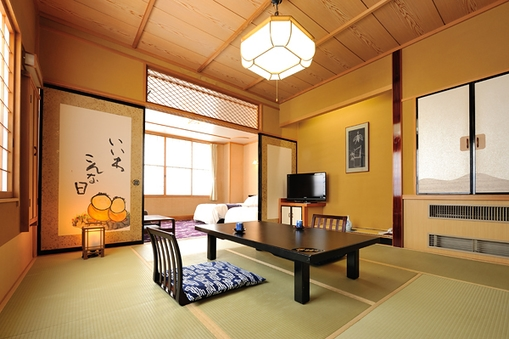 準特別室【和の間】和室8畳+ベッドルーム【禁煙】