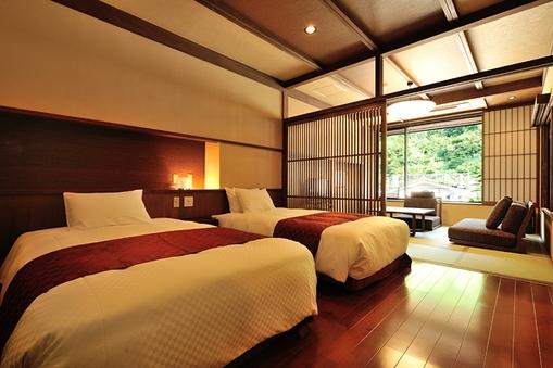 【特別室山つつじ】8畳+ベッドルーム+露天風呂【禁煙】