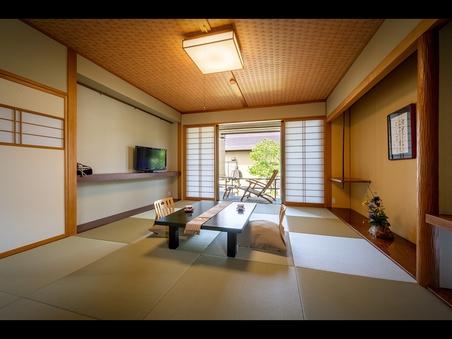 【露天風呂付き客室つくし・てまり】