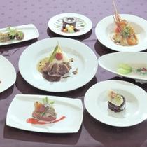 *【夕食コース一例】味はもちろん見た目にもこだわったお料理の数々