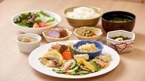【朝食ブッフェメニュー和食一例】お好みを料理をお召し上がりください