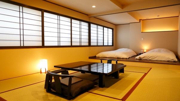 【専用露天岩風呂付き和室10畳+寝室8畳】『禁煙』 1F