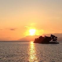 松江宍道湖の夕日