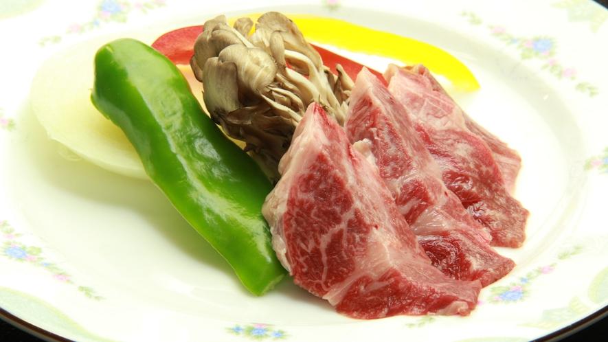 ◆【ご夕食一例・単品】国産黒毛和牛の陶板焼き