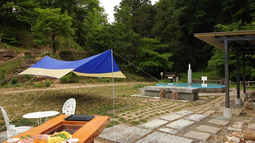◆【日帰りBBQイメージ】気の合う仲間や、ご家族で楽しくBBQ☆バーベキューの後は温泉も入浴できます