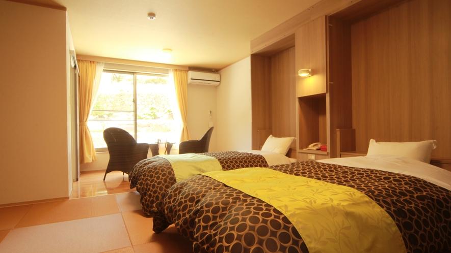 ◆【ラグジュアリーツイン】全室バストイレ付のツインはお部屋毎にコーディネートされたくつろぎの空間