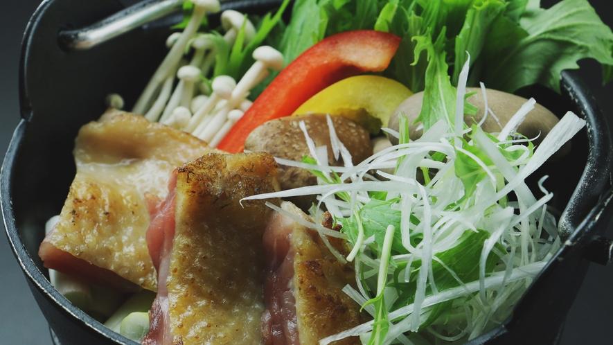 会津地鶏と南郷トマト鍋