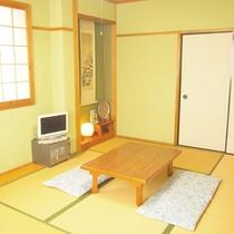 【和室7.5畳一例】お友達同士や小グループでのお泊りに。2名様からご利用