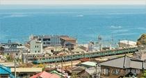 熱海紅楼から見た伊東線