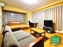 【EXコンフォートルーム】約32平米 3名様でご利用時は床敷きのお布団をご用意致します。