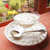【朝食】自家製ヨーグルトが好評♪