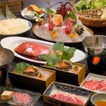 ハイグレードな食事コース!伊豆の海の幸をご堪能ください。