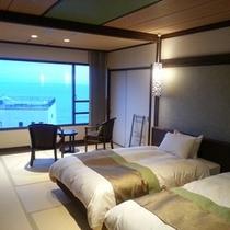 【5・6階客室】和室にベッド2台のモダンな客室