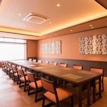 個室があり、グループでも利用ができるレストラン(最大25名まで)