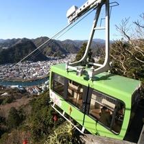 下田ロープウェイ。当館より車で35分駅前すぐです。寝姿山の山頂の景色は最高
