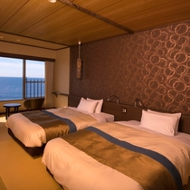 客室から海が見えるお部屋