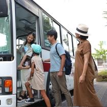 日曜朝のみユニバーサルシティ方面へ無料バスが運行(平常時)