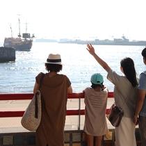海遊館からは遊覧船サンタマリアも就航