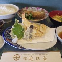 *【夕食一例】琵琶湖や地元滋賀県産の季節の食材を使った日替わり定食です