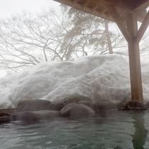*【露天風呂】冬は雪見露天を満喫♪