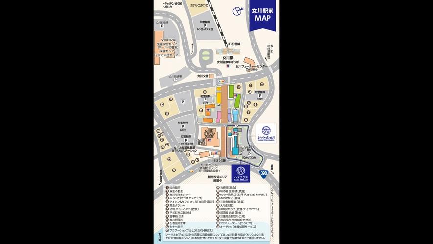【女川駅前MAP】