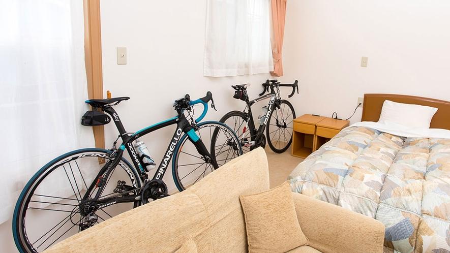 【サイクリスト応援プラン】お部屋の中で大切な愛車を駐輪出来ます