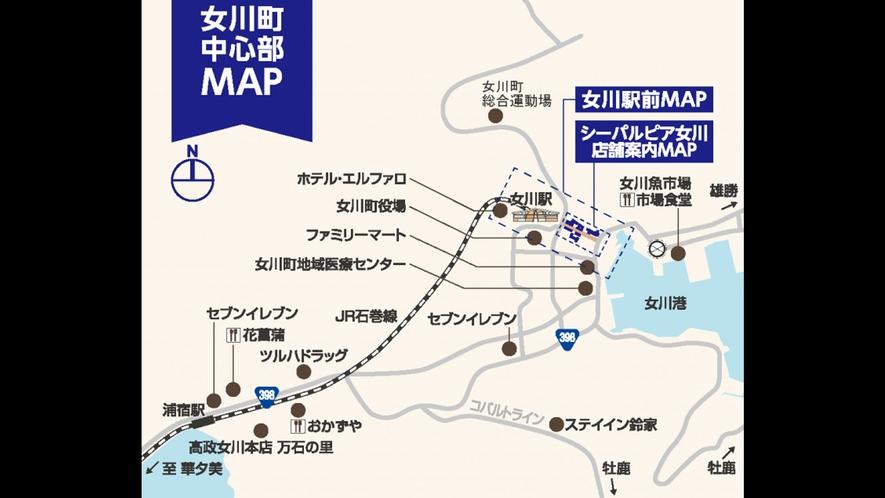 【女川町中心部MAP】