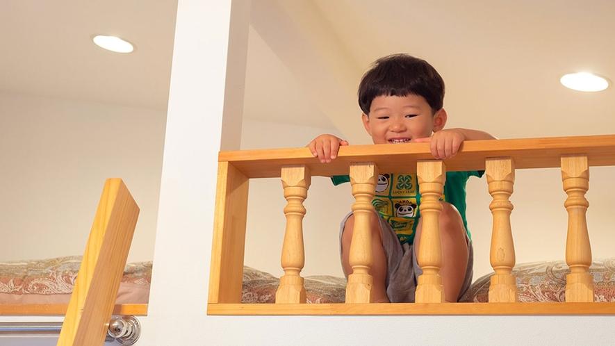 【ロフト付ツイン】小さなお子さまも大喜び♪