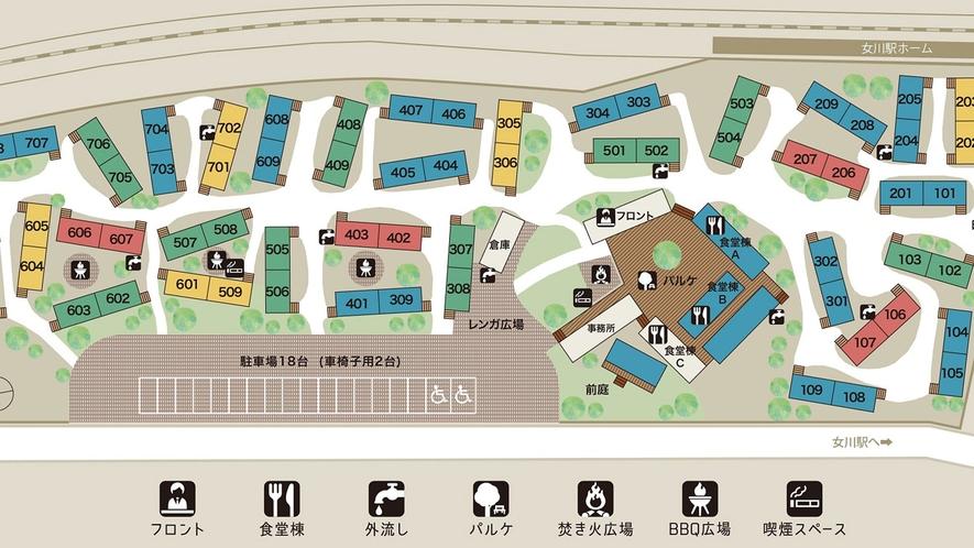 【ホテル内マップ】
