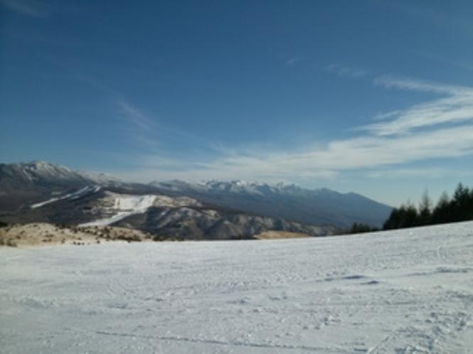車山高原スキー場からの眺め