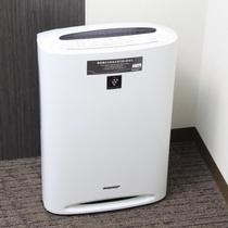 加湿器付き空気清浄機全室完備