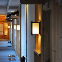 *施設一例/宿泊棟は「桜」「和格子」「手づくり」をテーマにした和モダンな雰囲気。