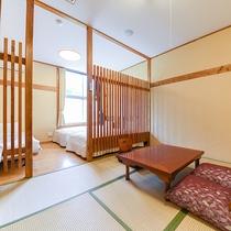 *和洋室一例/当館一番人気のモダン客室。清潔感があると好評です