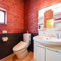 *ドッグラン付コテージ/ウォシュレットトイレ、洗面台をご用意