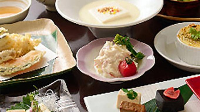 """【豆八(まめはち)コース】豆腐・生麩など""""京都ならでは""""の食材を全9品で堪能♪≪2食付き≫"""