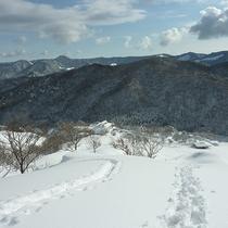 【深入山(冬)】一面の銀世界