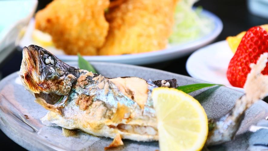 アマゴの塩焼き◆シンプルな味付けで魚の旨さを感じてください。