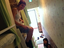 小倉カプセルルーム廊下