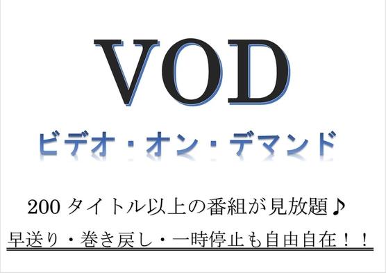 【夏旅セール】朝食バイキング付【VODルームシアター見放題プラン】