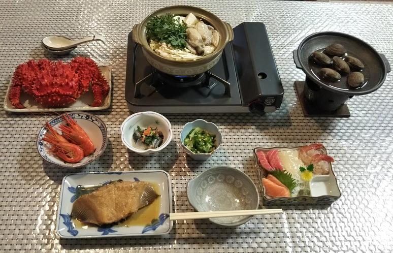 夕食(カニ付)