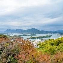 *和室6畳◆和室からも遠くに瀬戸内海やしまなみ海道がご覧いただけます