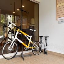 *サイクルスペース◆自転車置き場も完備。サイクリストも安心です。