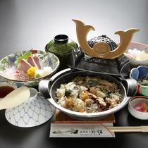 【水軍釜飯定食】一例